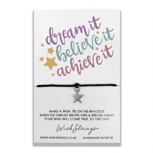 Dream It, Believe It, Achieve It Wishstring